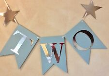 BOYS 2nd BIRTHDAY PARTY BUNTING 'TWO'