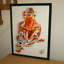 Billy Gibbons, ZZ Top, Singer, Lead Guitar Player, Blues Guitarist POSTER w/COA2