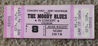 Vintage Moody Blues concert ticket unused 1979 Octave Jackson Mississippi