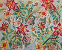 Vintage pastel painting abstract floral pattern