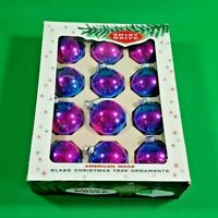 Vintage Shiny Brite Glass Christmas Ornaments Made in America w/ Original Box!