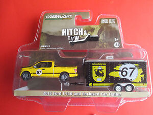 GREENLIGHT HITCH & TOW *2015 FORD F-150 & ENCLOSED CAR TRAILER* TERLINGUA RACING