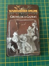Warhammer Fantasy Orks Goblins Orcs Grumlok Gazbag Rare Selten Zinn Metall New