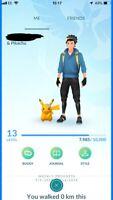 Pokemon Go SHINY PIKACHU FLORAL Level 13 Account BAN/HACK FREE!