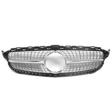 15-16 MERCEDES-BENZ C-CLASS W205 SPORT DIAMOND FRONT GRILLE GRILL CHROME TRIM