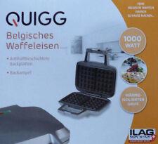 QUIGG Belgisches Waffeleisen 1000 W Waffelautomat Silber / NEU!