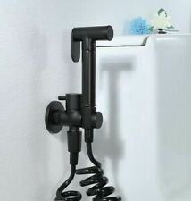 Brass Black Toilet Bidet Spray Set Hand held Diaper Sprayer Shower Shattaf Kit