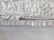 5mx12mm IVORY lace edge lingerie knicker elastic trim braid edging crafts goth