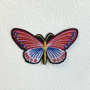 Cute Colourful Butterfly Iron Sew on Embroidered Patch