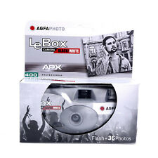 Agfa Photo LeBox Black/White Disposable Camera Apx 400 Iso Film 36 Exp. Qdr20