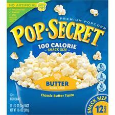 Pop Secret Popcorn Butter 100 Calorie Microwave Bags 12 Count Box