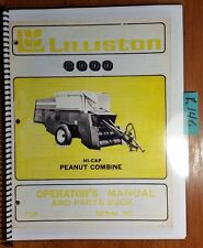 Lilliston 6000 Hi-Cap Peanut Combine Owner Operator & Parts Book Manual 60-5-77