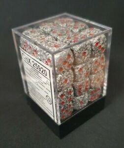 CHESSEX DICE: Speckled Granite 12mm d6 Dice Block (36 Dice)