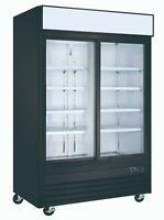 Vortex Commercial 2 Sliding Glass Door Merchandiser Refrigerator Display Cooler