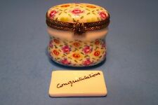 CONGRADULATION NOTE,CRISS CROSS authentic FRENCH LIMOGES BOX ( NEW )