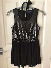 M&S Limited Collection Black sequin sleeveless dress girl age 14 with hairband