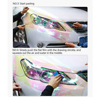 Shiny Chameleon Car Light Sticker Smoke Fog Light Taillight Headlight Tint Film