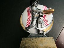 "Baseball Batting Trophy 5"" White Baseball"