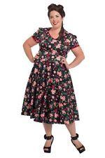 Plus Size Floral Cap Sleeve 50's, Rockabilly Women's Dresses