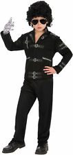 Licensed Michael Jackson Silver Gloves Childs Fancy Dress Halloween Costume, STD