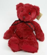"""RUSS BERRIE ~ BEARS FROM THE PAST ~ CRANBERRY (1745) 14"""" Red Teddy Plush ~NEW"""
