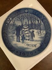 royal copenhagen 1979 blue Christmas Plate collectible original box and papers