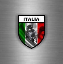 Sticker car moto warrior airsoft molon labe spartan flag italy italia shield