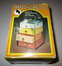 Vintage Musical Desk Tray Music Box Plays Love Story #400063
