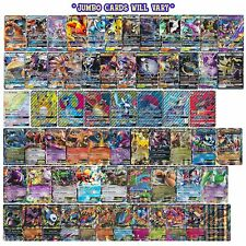 Pokemon 5 Card Jumbo Lot : Oversized Mega Ex Gx V Vmax Ultra Rare