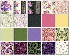 "Irresistible Iris Jelly Roll 40 2.5"" STRIPS 100% Cotton Quilting Fabric Benartex"