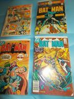 Vintage Lot of 4 DC Batman Comic Books 86 293 272 S-16