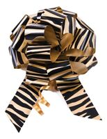 """10-5"""" Tiger Print Pull Bow Pew Bows Wedding Decorations Christmas Gift Wrap"""