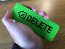 """Giant Jumbo Big Green Eraser Rubber 140mm Long """"DELETE"""""""