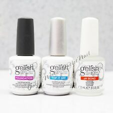 GELISH Harmony Soak Off Kit 3pc - Foundation Base Coat +Top It Off + pH Bond Set