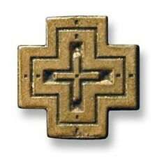 BRONZE St.George's Roof ETHIOPIAN STYLE Cross Pendant HANDMADE in USA