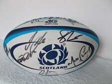 New listing Scottish rugby union signed rugby ball - complete 90s team autographs