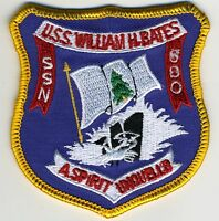 USS W.H. Bates SSN 680 - 3 inch BC Patch Cat No C5888