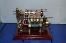 V4-cylinder steam engine ( with Steam boiler feed pump)