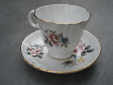 ROYAL GRAFTON FINE BONE CHINA MADE IN ENGLAND CUP SAUCER FLOWERS ROSES