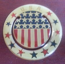 USA Stars & Stripes button bookmark