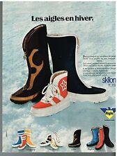 Publicité Advertising 1974 Les Bottes Après-ski Aigle par Hutchinson-mapa