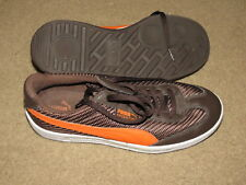 AWESOME Puma Argentina brown + orange casual tennis shoes / sneakers mens 8.5