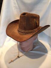 B11) Stetson Brown Cowboy Hat 6 7/8 The Billy The Kidd Felt Rodeo Horse Show GRT