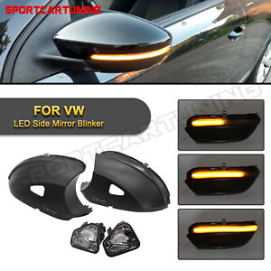 2X Sequential LED Side Mirror Turn Signal Lights For VW EOS Beetle CC Passat B7