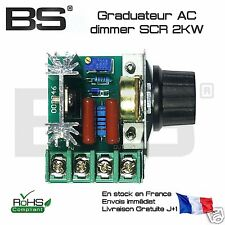 Régulateur dimmer SCR AC 2000W 2KW DIY dimmer heater motor fan boiler triac BTA