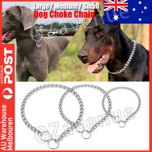 PET CAT Dog Choke Chain Gold Color Choker Collar Necklace Stainless Steel New AU