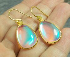 925 Silver Gold Overlay MERCURY MYSTIC TOPAZ Earrings E382~Silverwave*uk