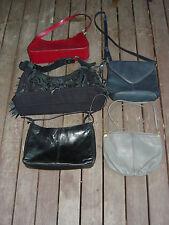 Lot of 5 Vintage 80s 90s Womens Shoulder Bag Messenger Crossbody Retro Purse