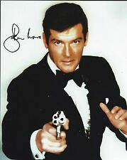 Roger Moore signed 8x10 Photo -  Proof - 007 James Bond