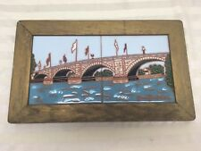Vintage Jennifer Roche Tile Art - 2 tile framed